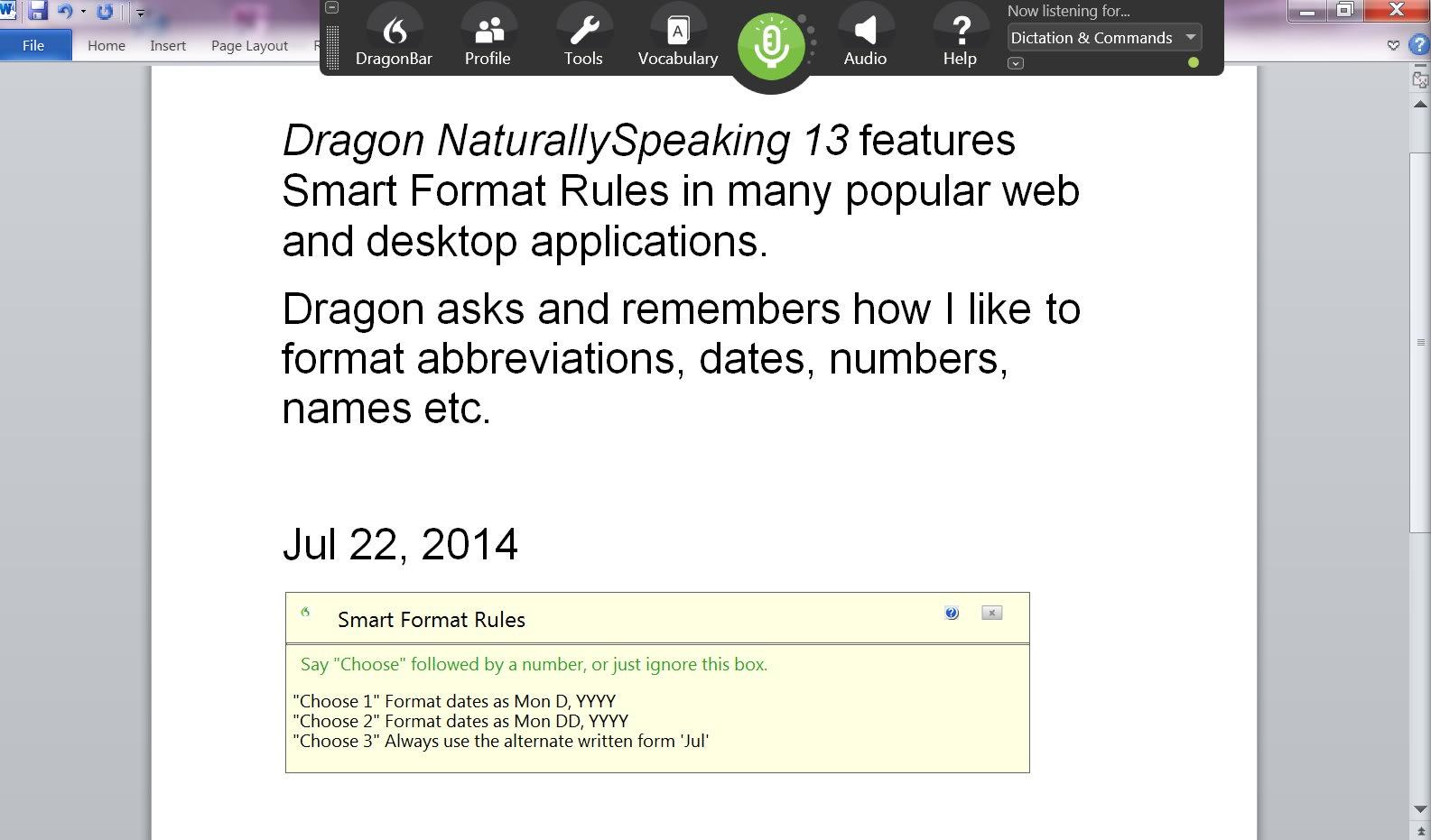 Dragon NaturallySpeaking
