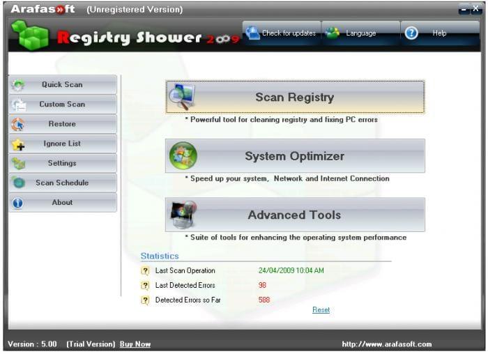Registry Shower