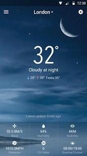 Amusing Clock & Weather Widget