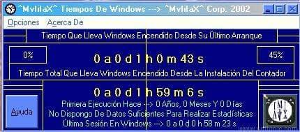 Tiempos de Windows