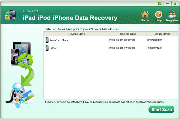 iStonsoft iPad iPod iPhone Data Recovery