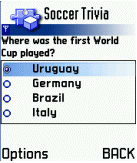 FIFA Soccer/Football Trivia for Java Phone