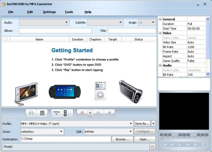 ImTOO DVD to MP4 Converter
