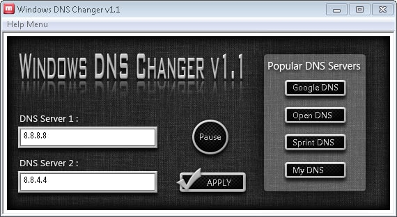 Windows DNS Changer