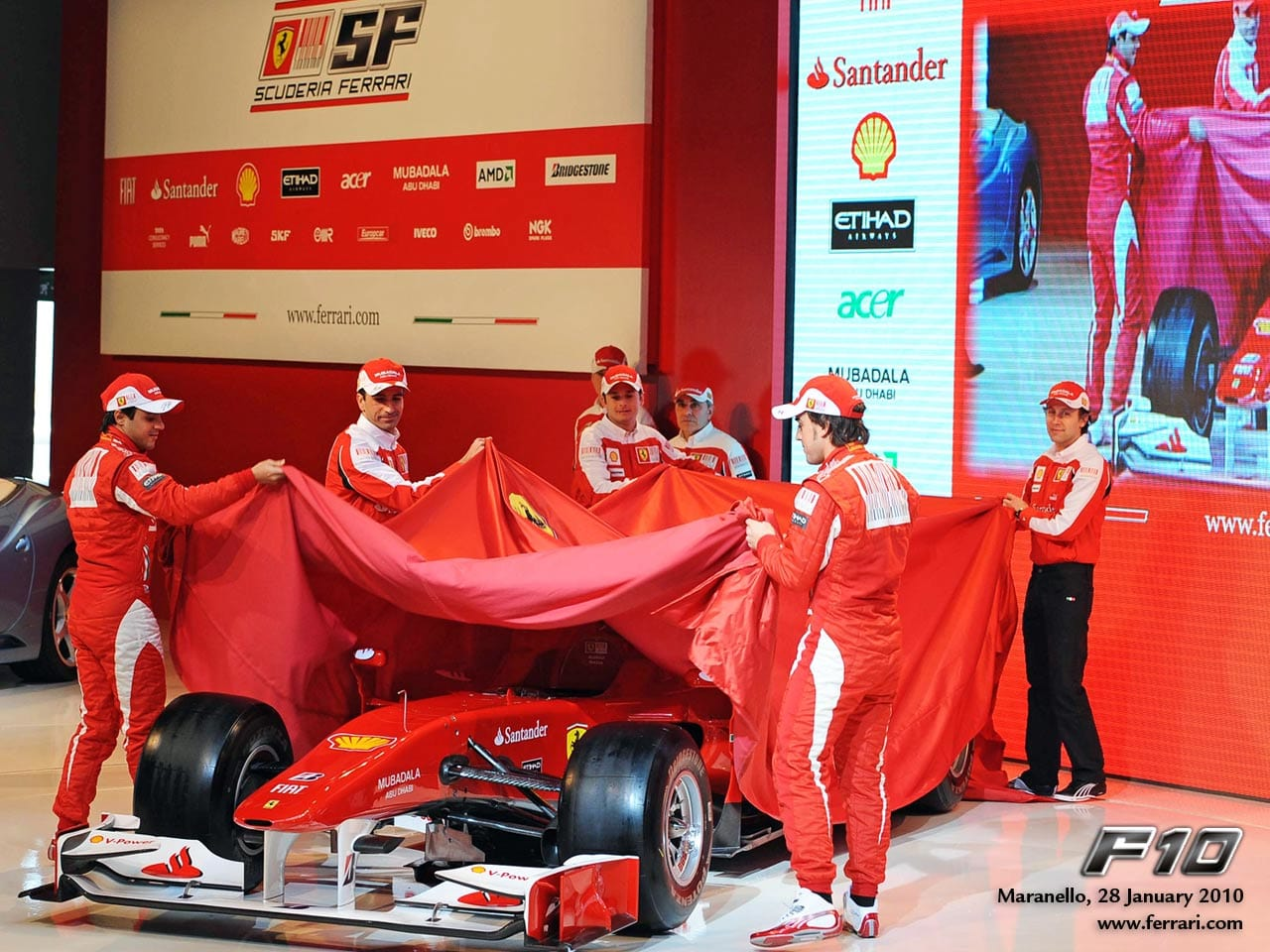 Ferrari F10 Presentation Wallpaper