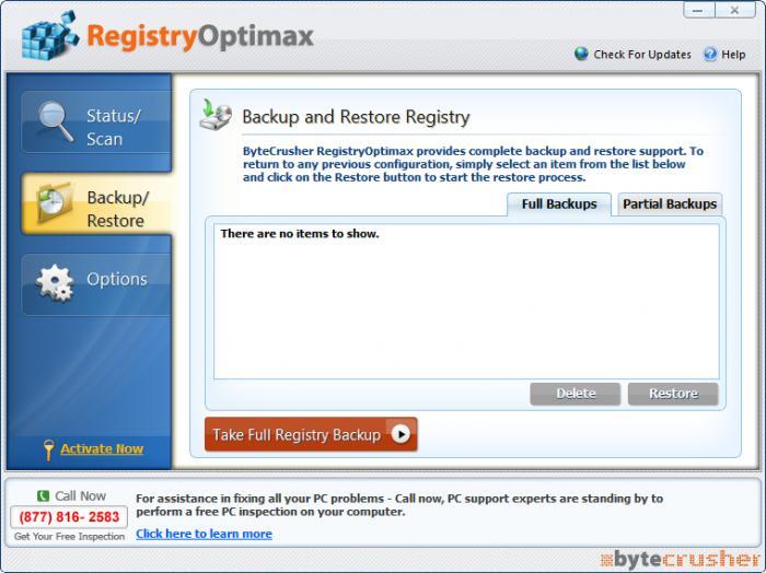 RegistryOptimax
