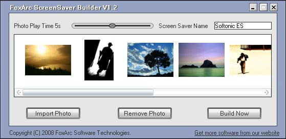 FoxArc Screen Saver Builder