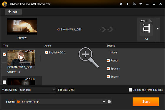 TDMore DVD to AVI Converter