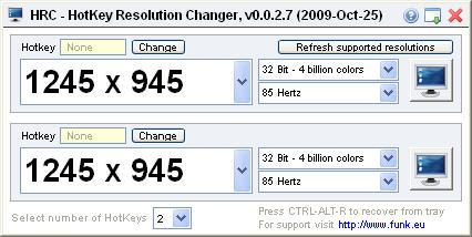 Hotkey Resolution Changer