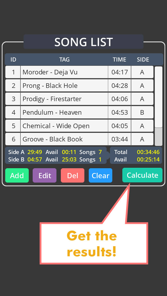 MixTape Calculator