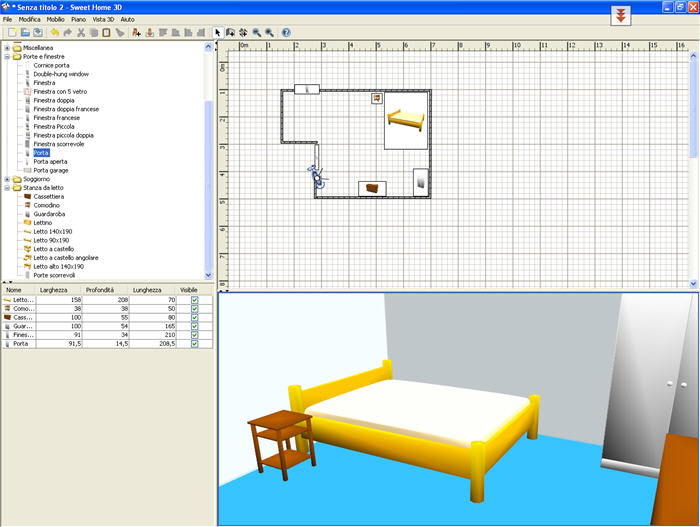 Sweet home 3d download for Progettare mobili online