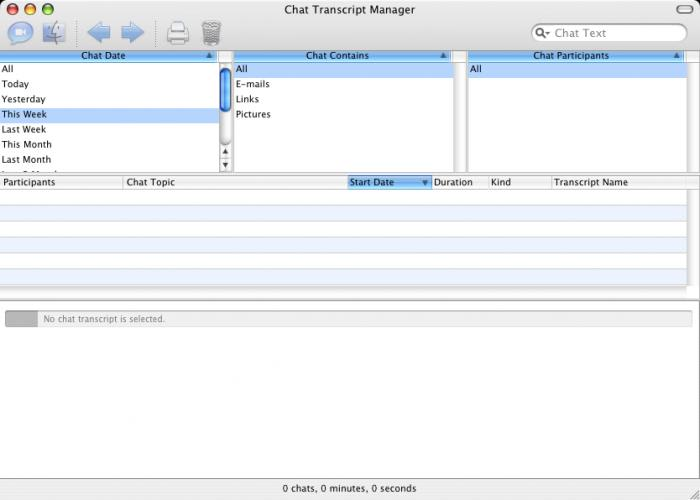 Chat Transcript Manager