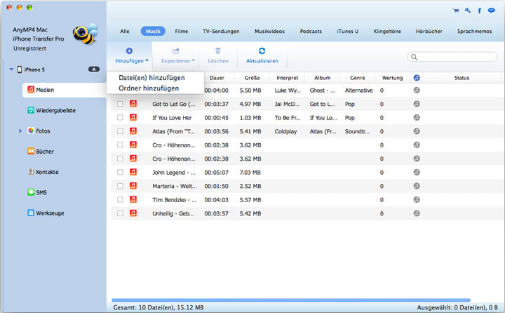 AnyMP4 Mac iPhone Transfer Pro
