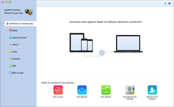 AnyMP4 Transfert iPhone Pro pour Mac