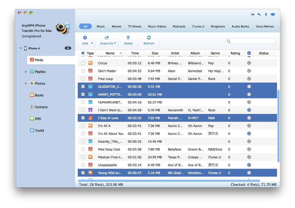 AnyMP4 Mac iPhone Transfer Pro