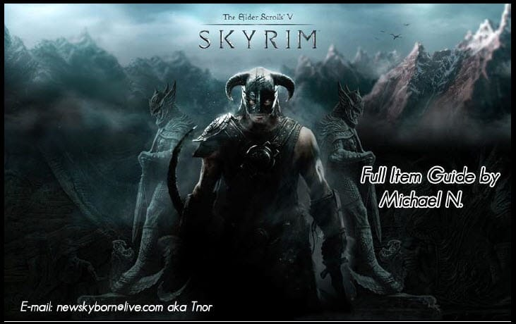 Skyrim Full Item Guide