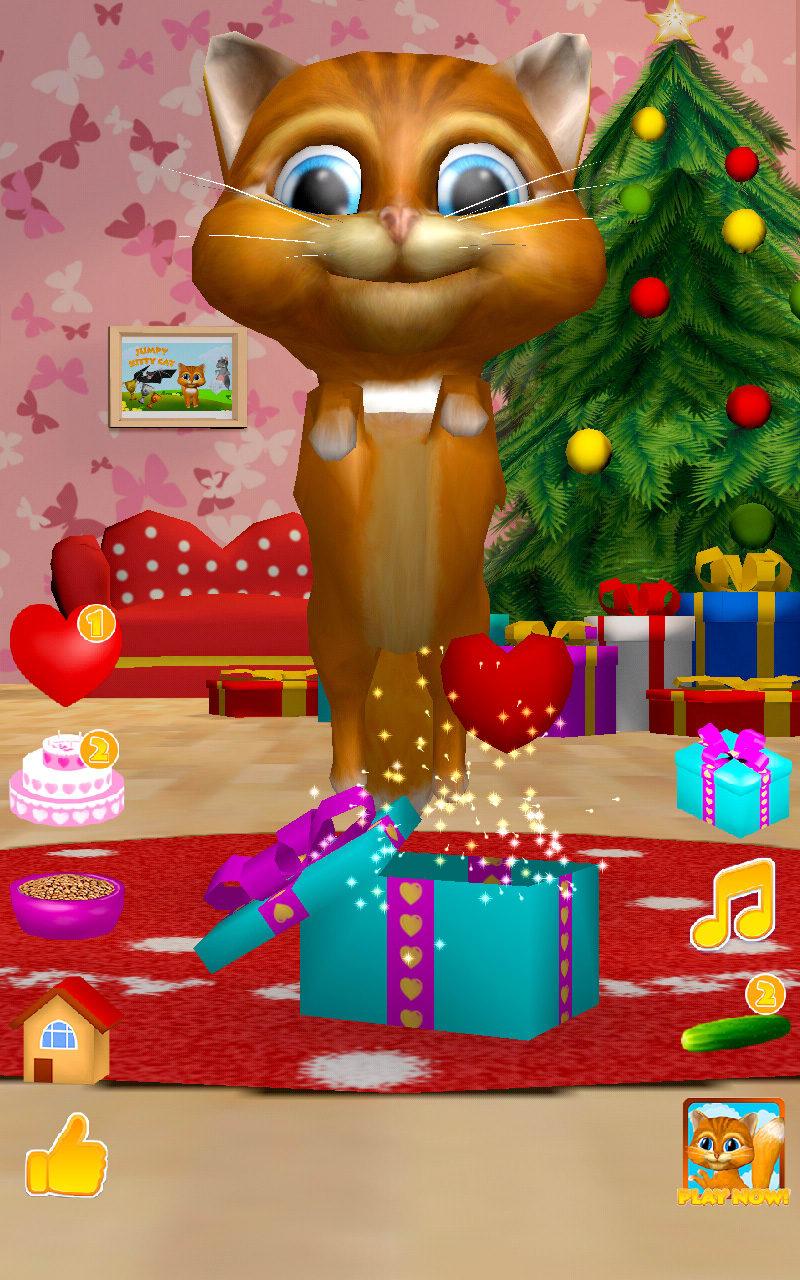 3D Christmas Talking Cat Diana