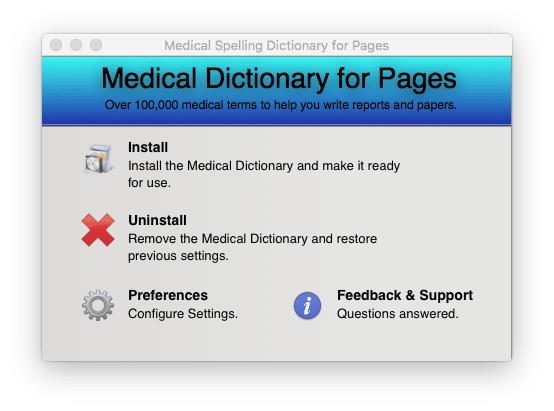Medical Spelling Dictionary For Pages