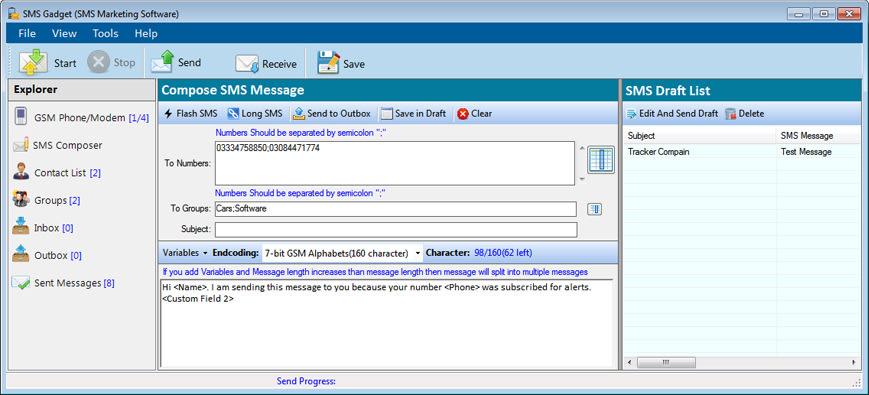 SMSGadget Bulk SMS Sender