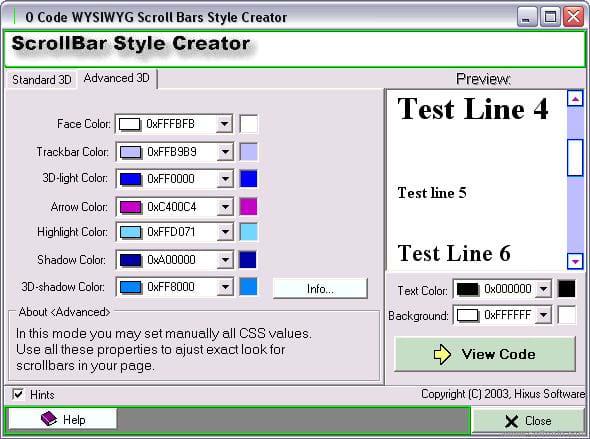 Scrollbar Style Creator