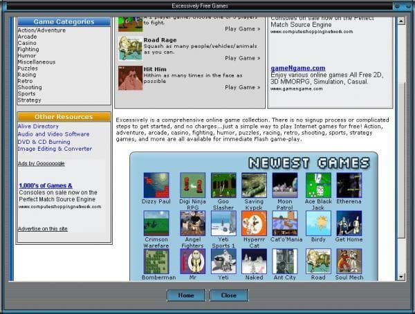 Excessively Free Internet Games