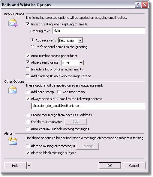 Bells and Whistles for Outlook