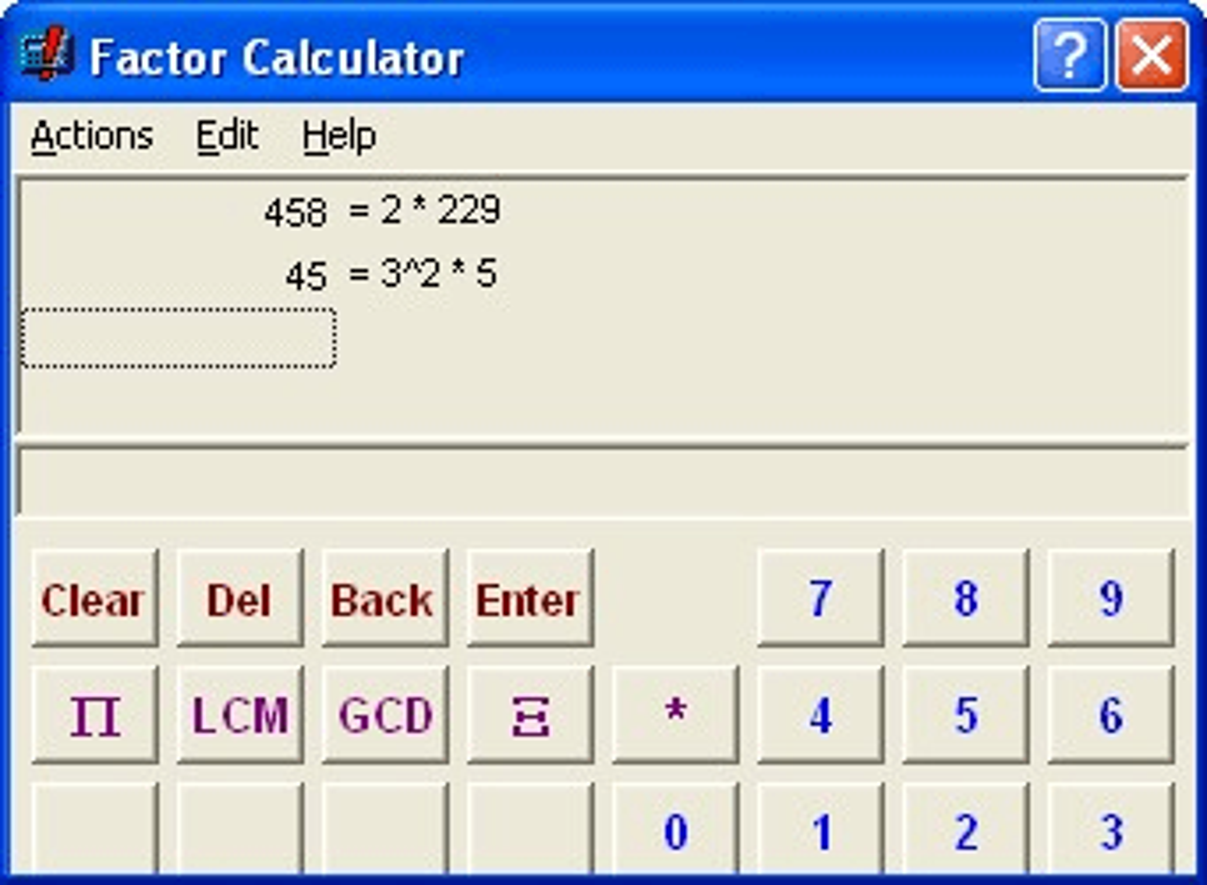 Factor Calculator