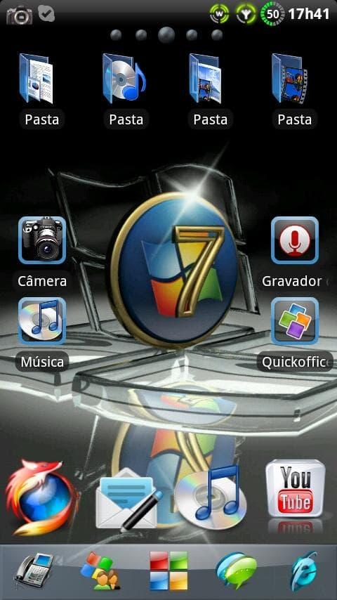 Tema Windows 7 para GO Launcher EX