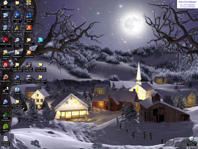 3D Winter Wonderland Animated Wallpaper