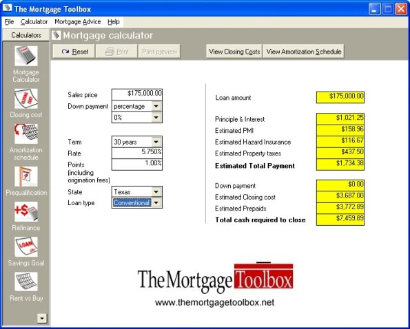 The Mortgage Toolbox