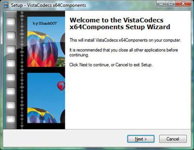 Vista Codecs x64 Components package