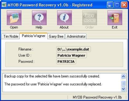 Peachtree Password Recovery