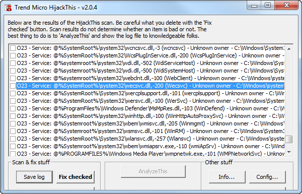Trend Micro HiJackThis Portable