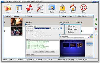 Aurora MPEG To DVD Burner