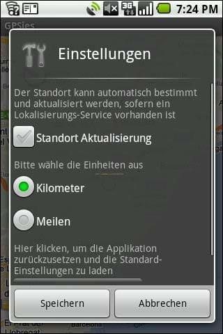 Gpsies für Android