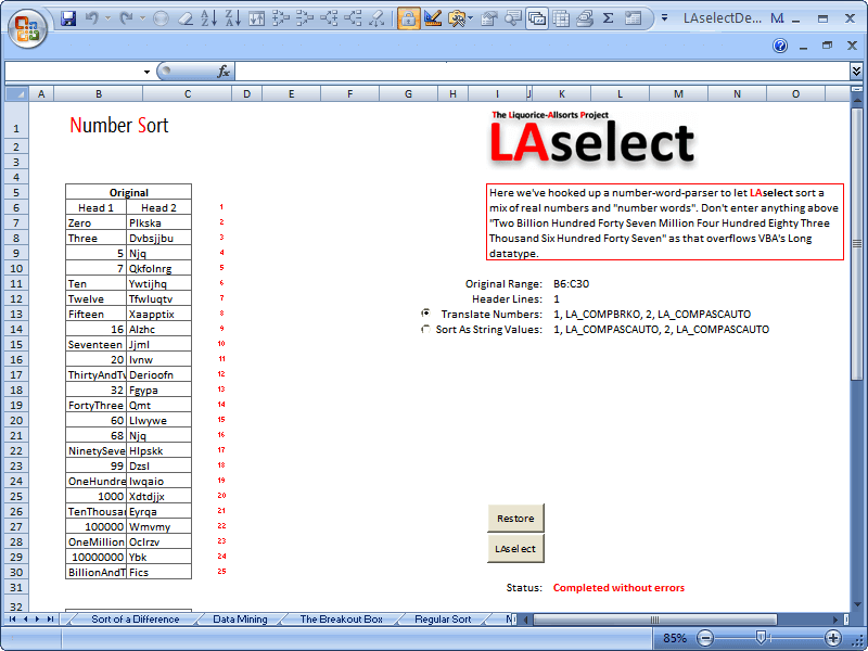 LAselect