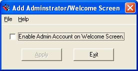Enable Administrator on the Welcome Screen