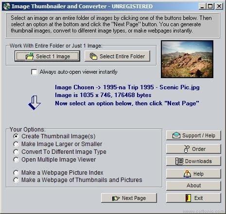 Image Thumbnailer and Converter