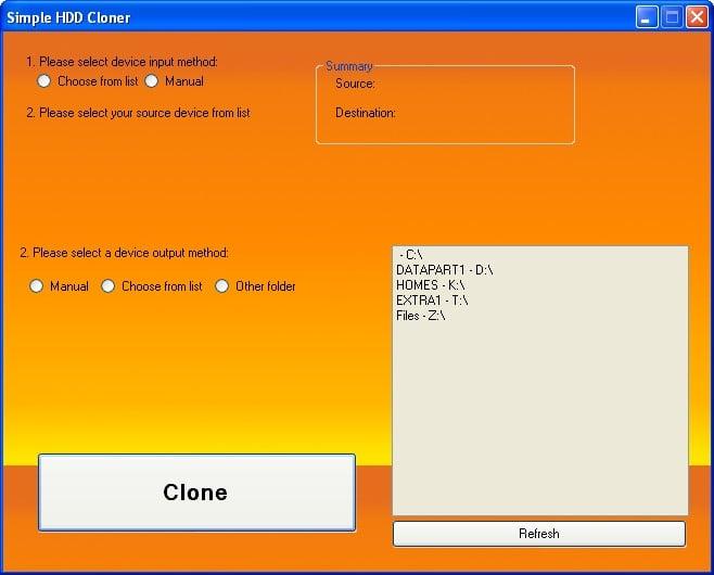 Simple HDD Cloner