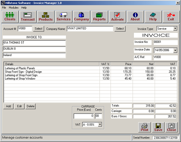 HS Invoice Manager - Download