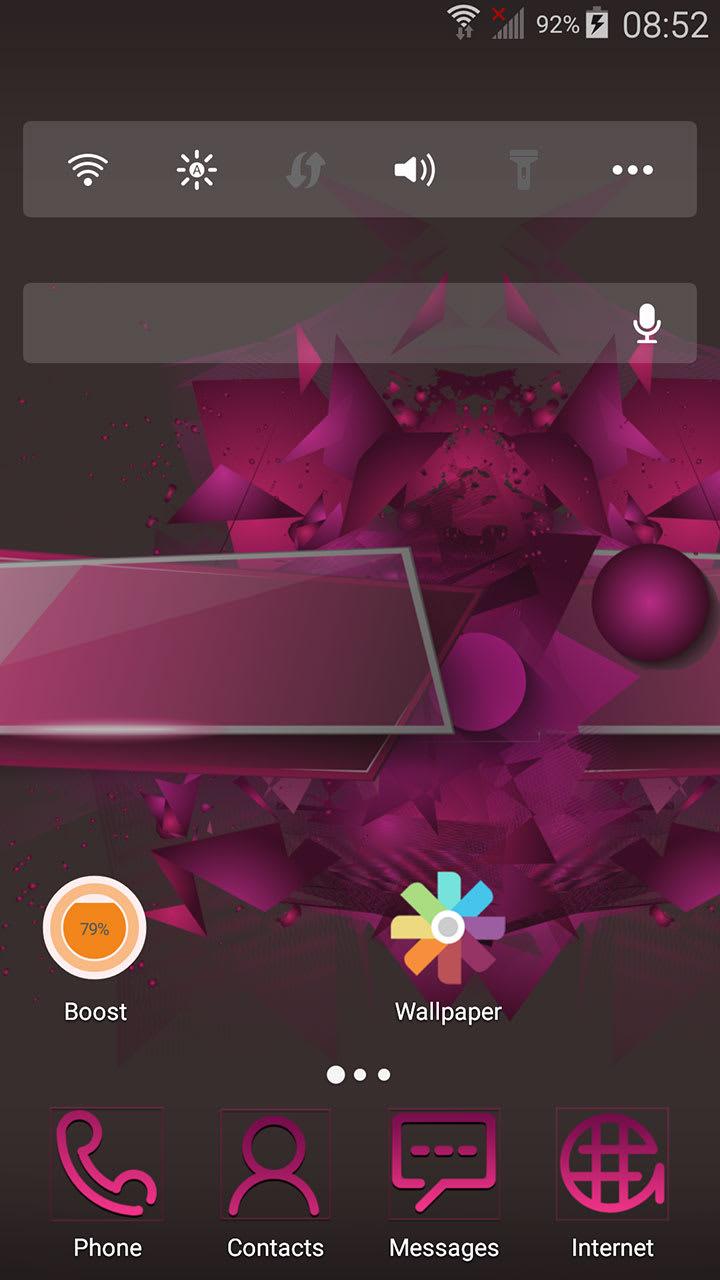 Rose  theme ABC launcher