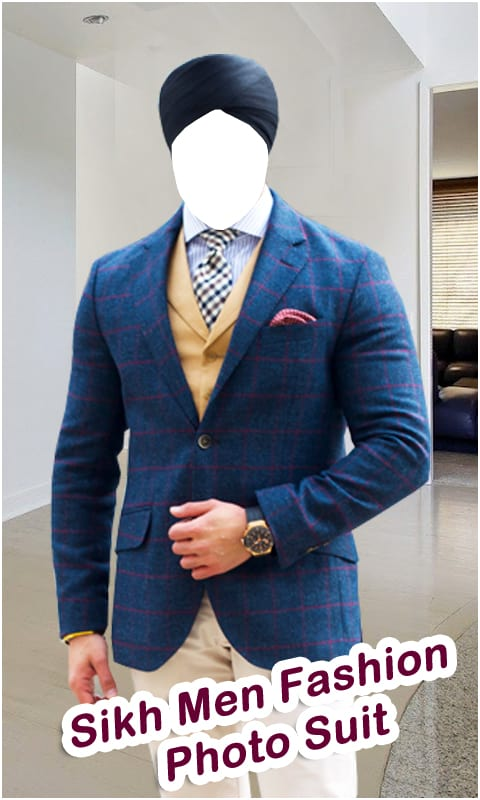 Sikh Men Fashion Photo Suit