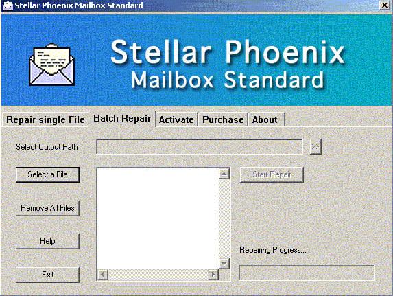 Stellar Phoenix Mailbox Standard - Email Recovery Software