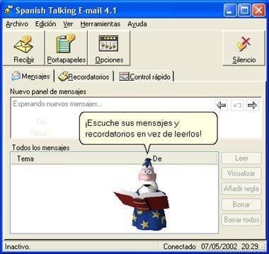 Spanish Talking E-mail