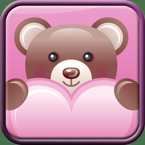 Teddy Bear Hearts Wallpaper