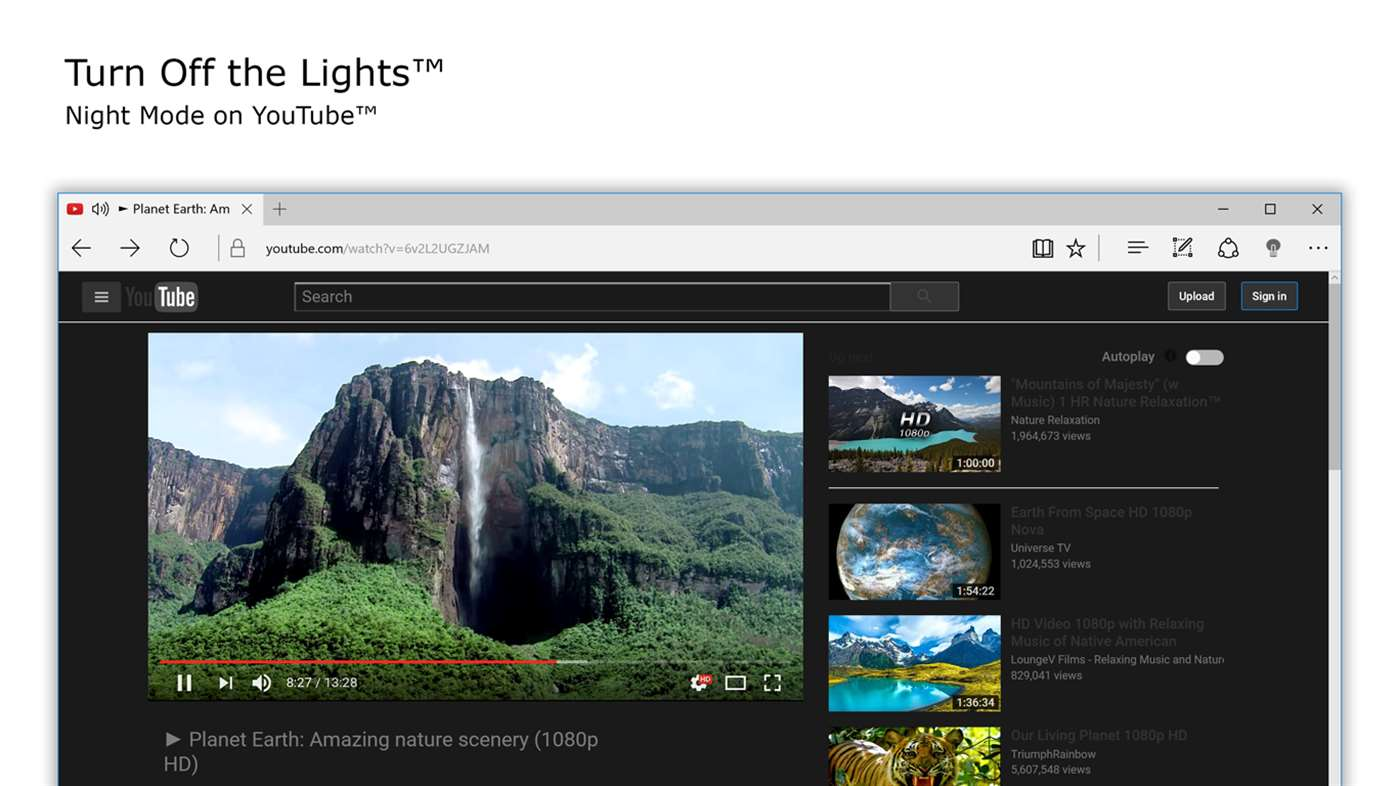 Turn Off the Lights for Microsoft Edge