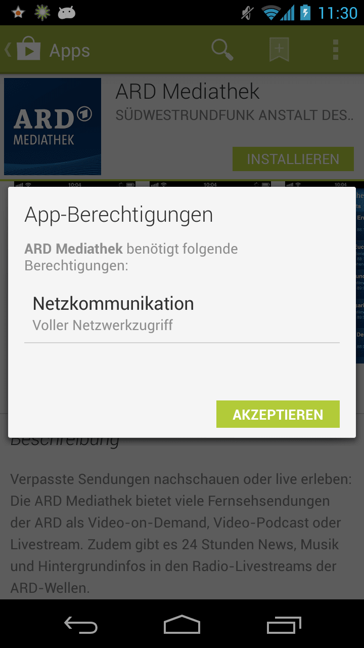 Mediathek Android