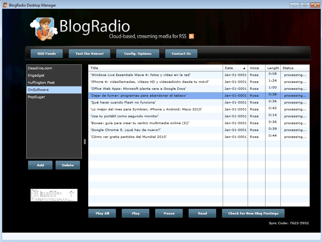 BlogRadio Desktop Manager