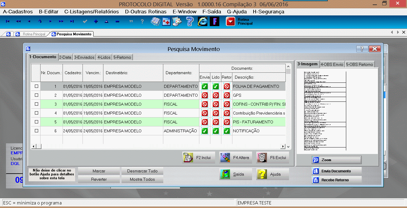 Protocolo Digital-DQL