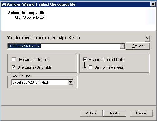 MDB (Access) to XLS (Excel) Converter